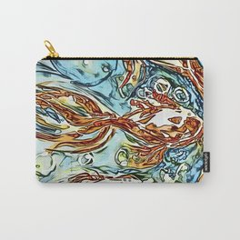Bubbly Goldfish watercolor by CheyAnne Sexton Carry-All Pouch