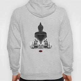 White Tiger Buddha Hoody