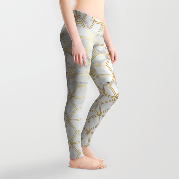 Hive Mind - Marble Gold #510 Leggings
