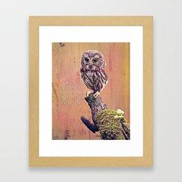 Little Wiser Owl Framed Art Print