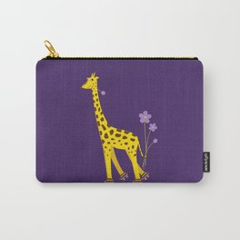 Funny Giraffe Roller Skating Carry-All Pouch