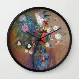 Odilon Redon - Bouquet of Flowers (1900-05) Wall Clock
