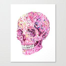 Crysrtal skull #2 - Pink Canvas Print