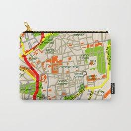 Jerusalem Map Design Carry-All Pouch