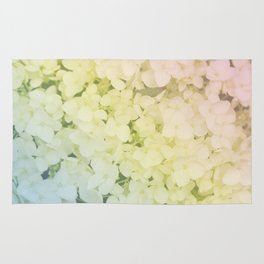 Rainbow colored hydrangea Rug