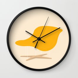 Yellow La Chaise Chair by Charles & Ray Eames Wall Clock