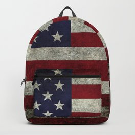 Vintage retro style national flag of America Backpack