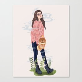 PomPom Queen Canvas Print