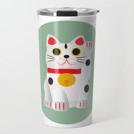 Lucky cat Travel Mug