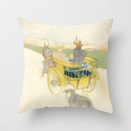 """Henri de Toulouse-Lautrec """"Partie de Campagne"""" Throw Pillow"""