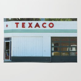 Texaco Gas Station Rug