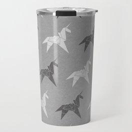 Origami Unicorn Grey Travel Mug