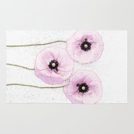 Delicate Poppies Rug
