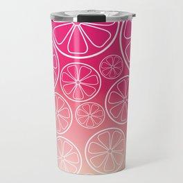 Citrus slices (pink grapefruit) Travel Mug