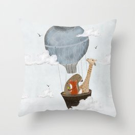 a big adventure Throw Pillow