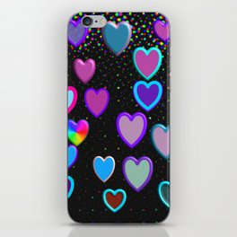 Confetti Hearts iPhone Skin