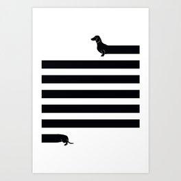(Very) Long Dog Art Print
