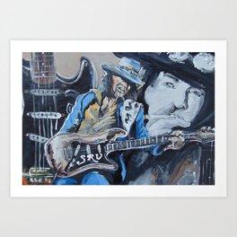 Stevie Ray Vaughn tribute Art Print