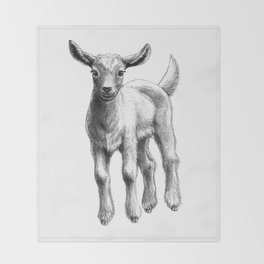White Goat Baby SK133 Throw Blanket