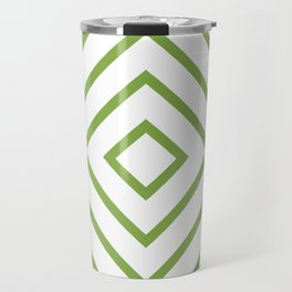 Nested Green Squares Travel Mug