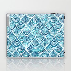 NAVY LIKE A MERMAID Fish Scales Watercolor Laptop & iPad Skin