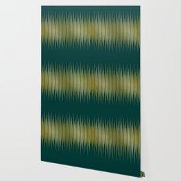 Linear Gold & Emerald Wallpaper