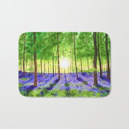 Bluebell woods Bath Mat
