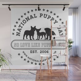 National Puppy Day Wall Mural
