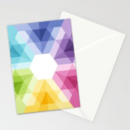 Fig. 021 Colorful geometric shapes Snowflake Stationery Cards
