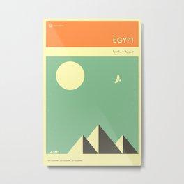 VISIT EGYPT Metal Print