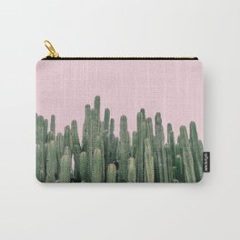 Pink Sky Cactus Carry-All Pouch