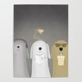 funny dog posters society6