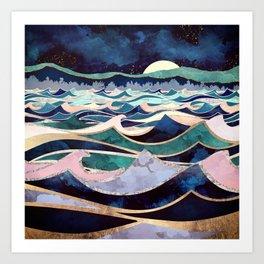 Moonlit Ocean Art Print