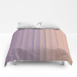 Lavender and Neutral Color Vertical Stripes Comforters
