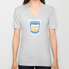 New York Deli Coffee Pattern Unisex V-Neck