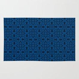 Lapis Blue Geometric Pattern Rug