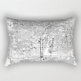 Las Vegas White Map Rectangular Pillow