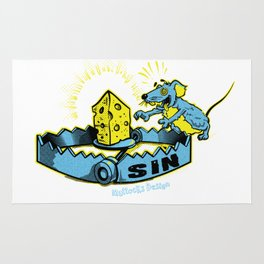 Sin Trap - Blue and Yellow Rug