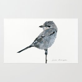 Northern Shrike by Teresa Thompson Rug
