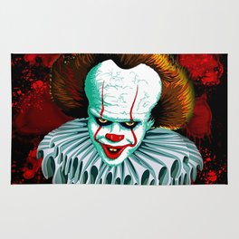 The Dancing Clown - Pennywise IT - Vector - Stephen King Character Rug