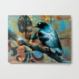 Fleur De Bluebird Metal Print