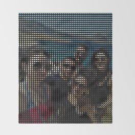 Social Surface - Friends on the beach Throw Blanket