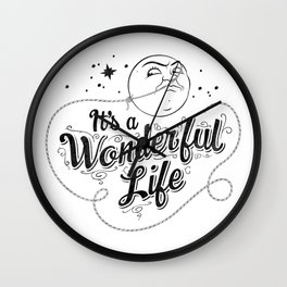 It's a Wonderful Life - Title Wall Clock