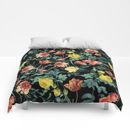 NIGHT FOREST XV Comforters