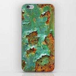 Rust and Deep Aqua Blue Abstract iPhone Skin