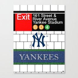 NYC Yankees Subway Canvas Print