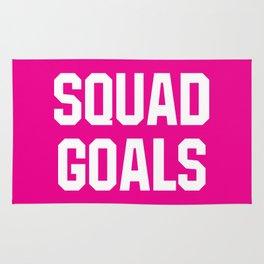 Squad Goals (Magenta Background) Rug