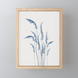 Blue flowers 2 Framed Mini Art Print