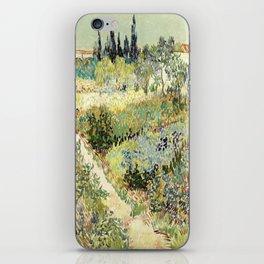 Vincent Van Gogh : Garden at Arles iPhone Skin