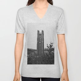 Galen Stone Tower, Wellesley College Unisex V-Neck